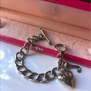 Juicy Couture Silver Tone Starter Bracelet